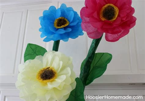 How Can We Make Paper Flowers - how to make tissue paper flowers hoosier
