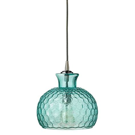 Aqua Pendant Lights Aqua Glass Mini Pendant Bellacor
