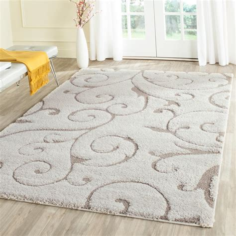 Safavieh Florida Shag Cream Beige 6 Ft X 9 Ft Area Rug 9 Foot Rugs