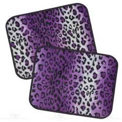 rubber st designer leopard purple car floor mat 4 pc set design mat rubber