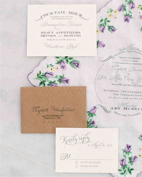 how to make wedding invitations martha stewart martha stewart wedding invitations kit mini bridal