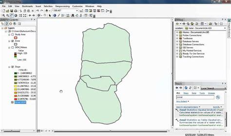 video tutorial arcgis 10 2 arcmap 10 2 zonal statistics doovi