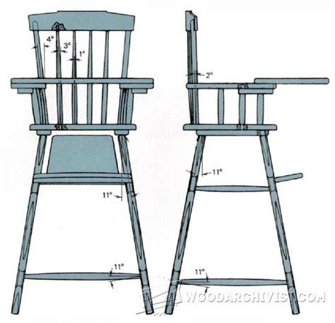 rocker  high chair plans woodarchivist