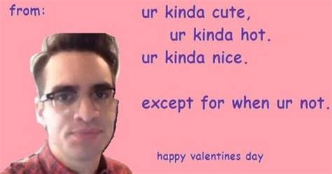 Cute Valentines Day Memes - valentine s day brendon urie panic at the disco