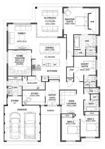 floor plans for a 4 bedroom house floor plan friday 4 bedroom 3 bathroom home floor