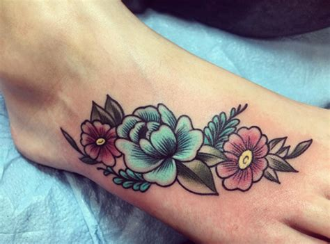 flower tattoo designs for foot 147 foot designs to help you leave a steeper footprint