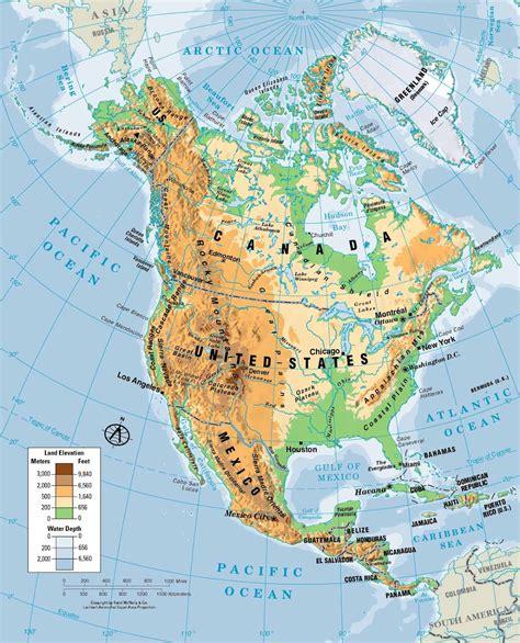 mapa topografico america sur mapa de america norte mapa f 237 sico geogr 225 fico