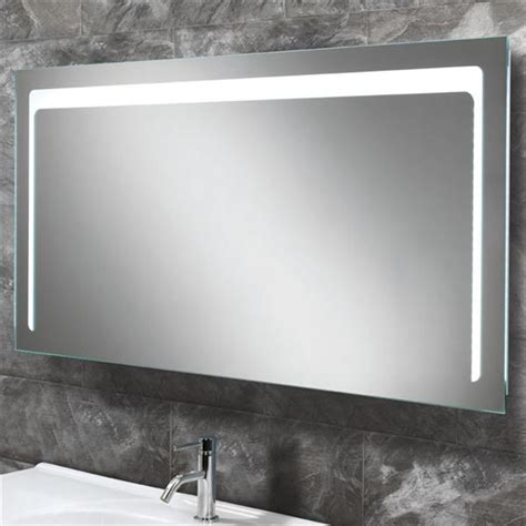backlit bathroom mirrors uk hib christa led backlit bathroom mirror w1200 x h600mm