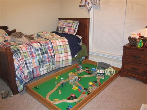 under bed train table underbed train table playroom pinterest