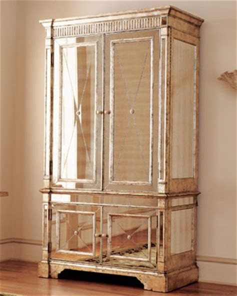 mirrored armoire traditional armoires and wardrobes