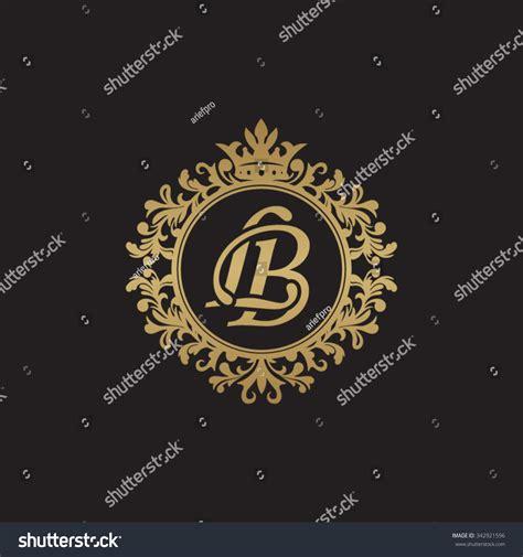 Lb Monogram lb initial luxury ornament monogram logo stock vector