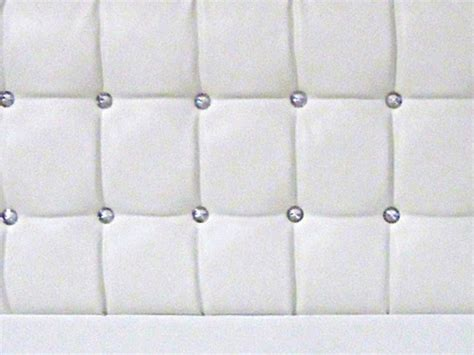 white leather headboard double designer saturn bling white faux leather double headboard