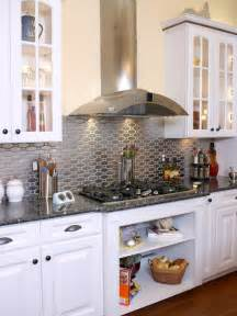 with granite countertops metallic backsplash and metal stainless steel solution for your kitchen inspirationseek