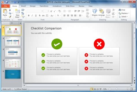 Best Comparison Chart Templates For Powerpoint Powerpoint Comparison Template