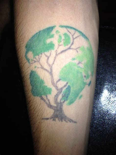 tree globe tattoos globes trees