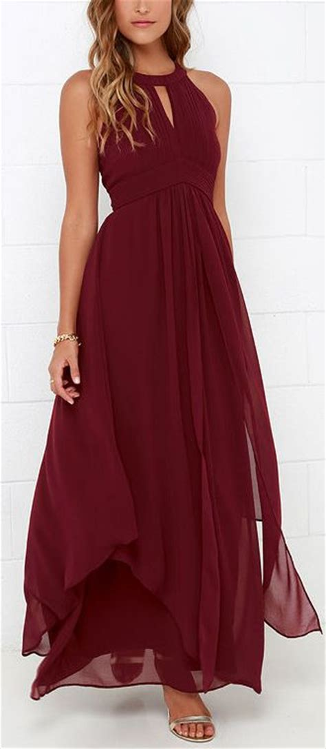 wine colored maxi dress 25 best ideas about burgundy dress on formal