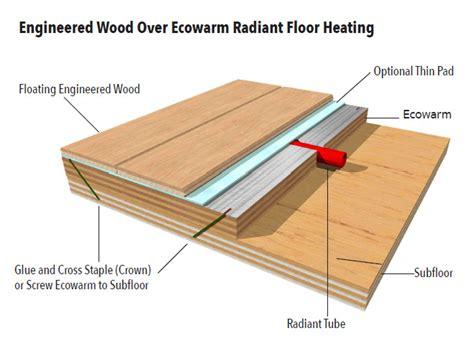 hardwood over in floor heating gurus floor