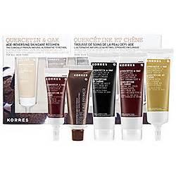 Gwp Alert Free Clinique Custom 3 Step Skincare Set by Korres Quercetin Oak Age Reversing Skincare Regimen Set 9