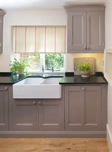 black honed countertops with gray cabinets