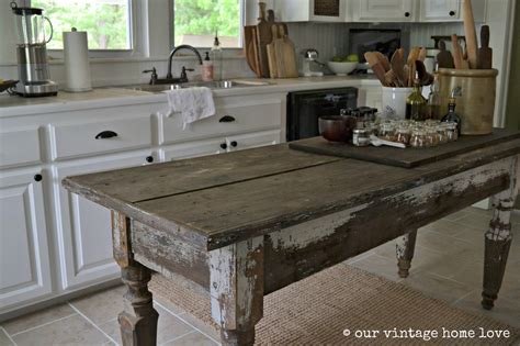 our vintage home farmhouse table