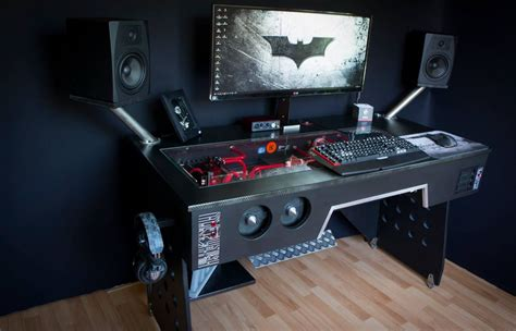 black gaming desk gaming computer desks archives finding desk