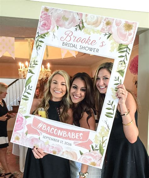 Bridal Picture Ideas by Bridal Shower Photo Prop Pink Floral Digital File