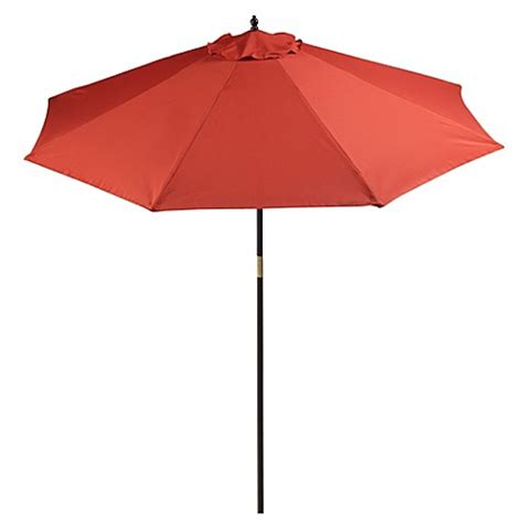 bed bath beyond umbrella 9 foot round hardwood patio umbrella bed bath beyond