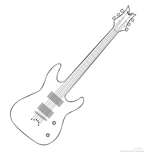 bass guitar templates bass guitar printable coloring pages
