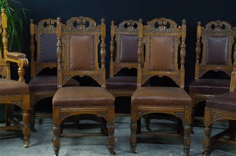 antique oak dining room furniture antique carved oak dining chairs c1890 painted vintage