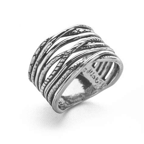 brocade ring silver rings silver by mail