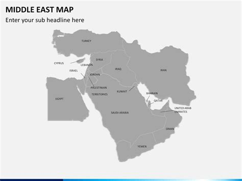 middle east map zoom middle east map powerpoint sketchbubble