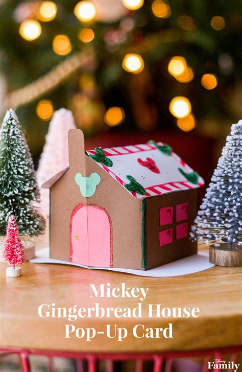 gingerbread house pop up card template mickey gingerbread house pop up card disney family