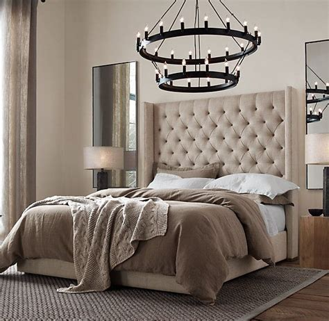 restoration hardware upholstered bed pin by luke bussey on for the home pinterest