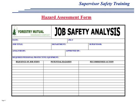 100 osha risk assessment template spot the hazard