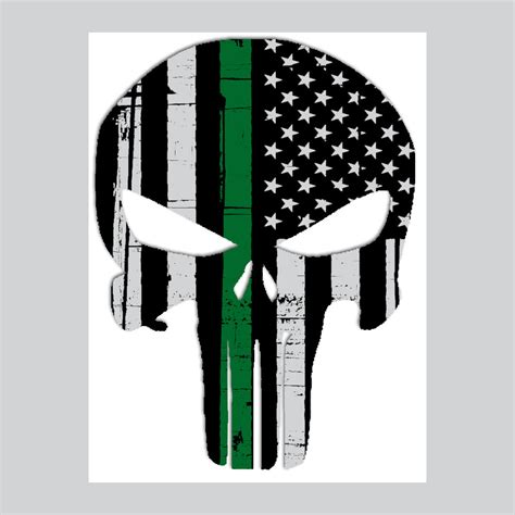 Wps189 Green Line Walpaper Dinding Wall Paper Stiker Sticker punisher skull american flag border patrol thin green line