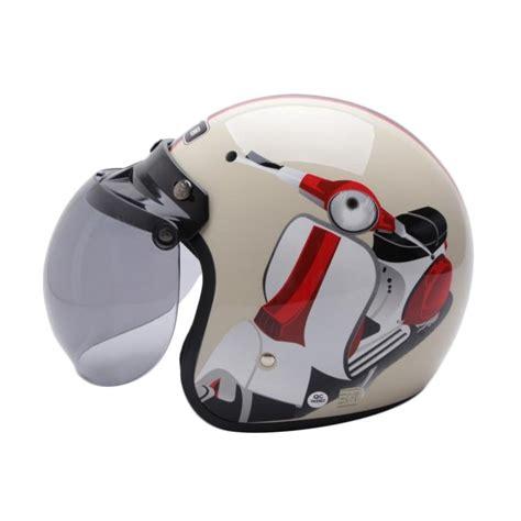 Helm Retro Bogo Import Sni Coklat Krem jual wto helmet retro bogo vespa helm half krem harga kualitas terjamin