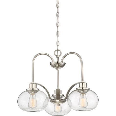 Nickel Chandelier Quoizel Trg5103bn Trilogy Modern Brushed Nickel