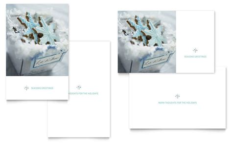 publisher greeting card templates snowflake cookies greeting card template word publisher