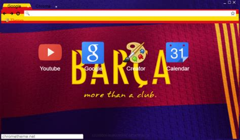 themes google chrome barcelona fc barcelona chrome theme themebeta