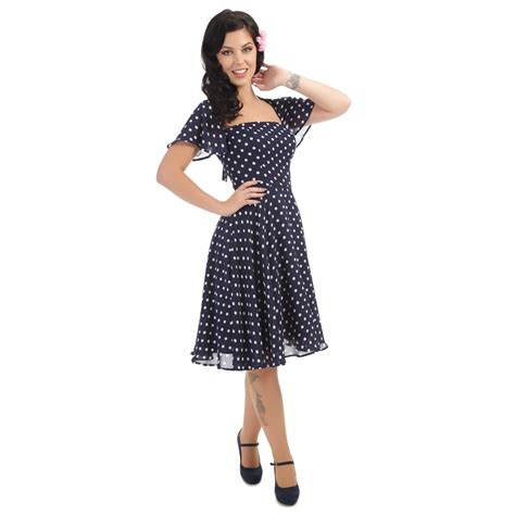 swing kleider vintage collectif vintage juliet polka dot swing dress collectif