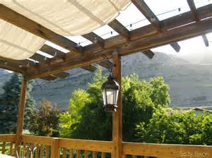 Diy Pergola Shade by Outdoor Space Makeover Painted Floors Amp Diy Drop Cloth Shade