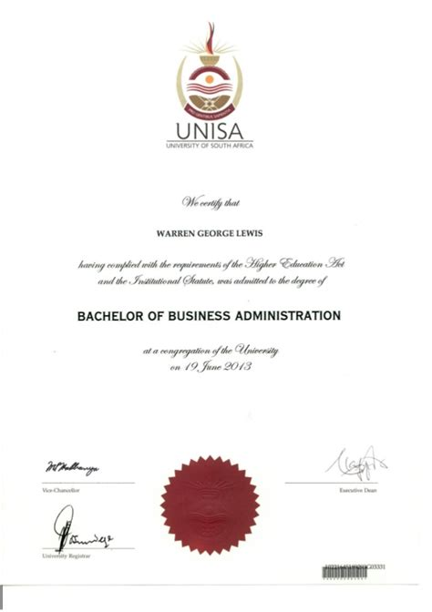 Mba Degee Sles by Bachelor Of Business Administration Certificate