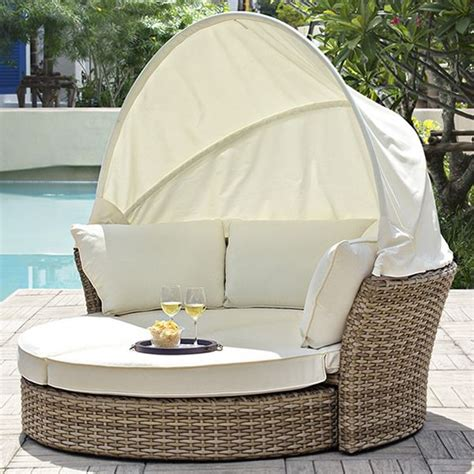 divanetti da giardino economici salpi garden daybed in synthetic rattan with packable