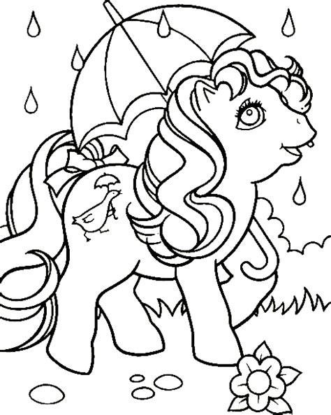 my little pony tales coloring pages my little pony coloring page little pony in rain all