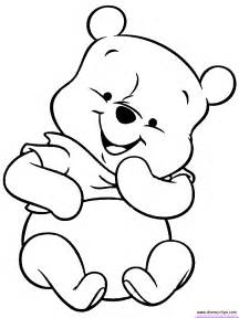 Baby Pooh Printable Coloring Pages Disney Book sketch template