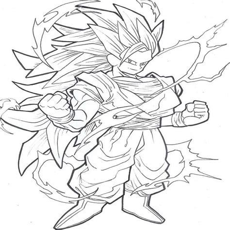 imagenes de goku para calcar dibujos de goku super saiyan cuarto nivel dragon ball z