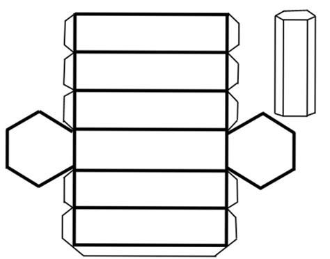 figuras geometricas recortables para armar recortable prisma hexagonal manualidades para ni 241 os