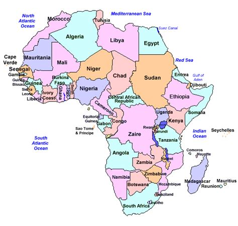 africa map labeled free coloring pages of labeled map of africa