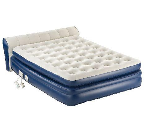 aerobed queen size elevated headboard bed  built  pump