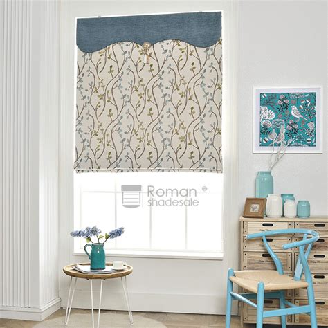 leaf patterned roman blinds modern leaf pattern jacquard chenille thermal roman shade